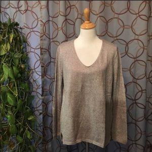 Old Navy Grey V-neck Long Sleeve Sweater XL NWT